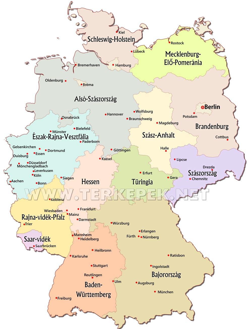 ausztria térkép megyékkel Németország térképek ausztria térkép megyékkel